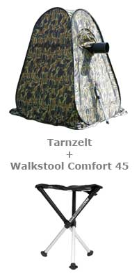 Tarnzelt + Walkstool Comfort 45
