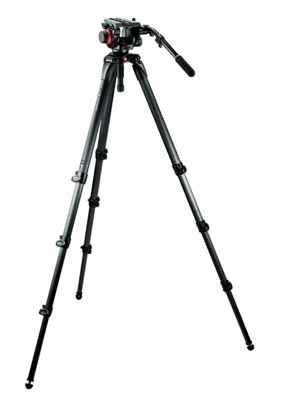 Manfrotto Set: 504HD Neiger, 535 Stativ