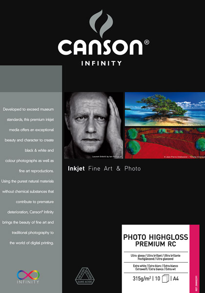 Canson Photo HighGloss Premium RC 315