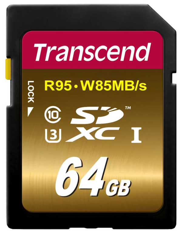 Transcend SDXC High Speed UHS-1 U3