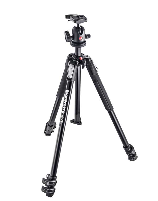 Manfrotto 190X Alustativ Set + 496RC2
