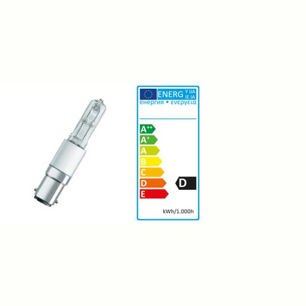 Halogenlampe ECO JD 130 W / 230 V Sockel BA15d | Einstellicht Profilux
