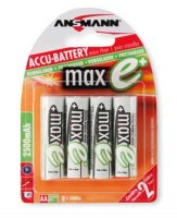 Ansmann MAX E -NiMh Akku Mignon (AA) - 2500 mAh (4er...
