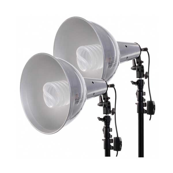 Biglamp 501 Mega-Set = 2x Biglamp Mega + Leuchtmittel + Stative + Zubehör