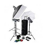 Helios 600P II Profi Blitzstudio Kit 3er Set