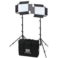 NANLITE LED Set 1200CSA, Double Kit 2 Leuchten 1200CSA +...