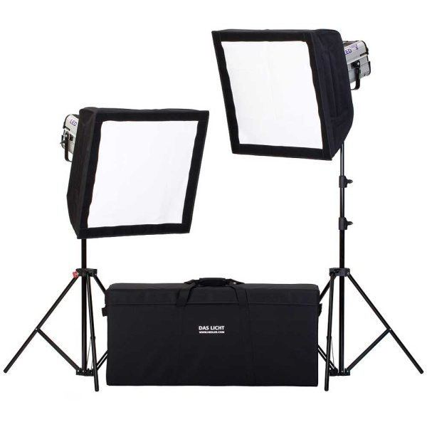 Hedler Profilux® Soft Kit LED 1000 X 2xLED 1000 X + 2x Softbox 50x50 + Stativ