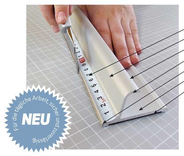 Profi Sicherheitslineal, Länge: 105 cm Aluminium mit Anti Rutschbelag