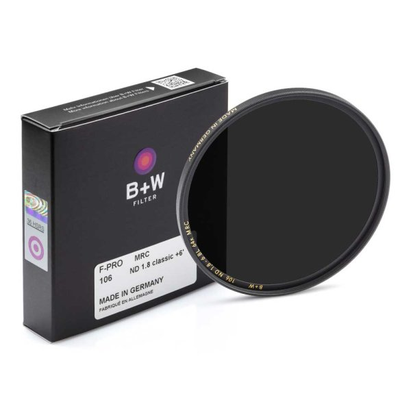 B+W Graufilter F-PRO MRC (Typ 106) | ND 1,8 (+6 Blenden=64x)