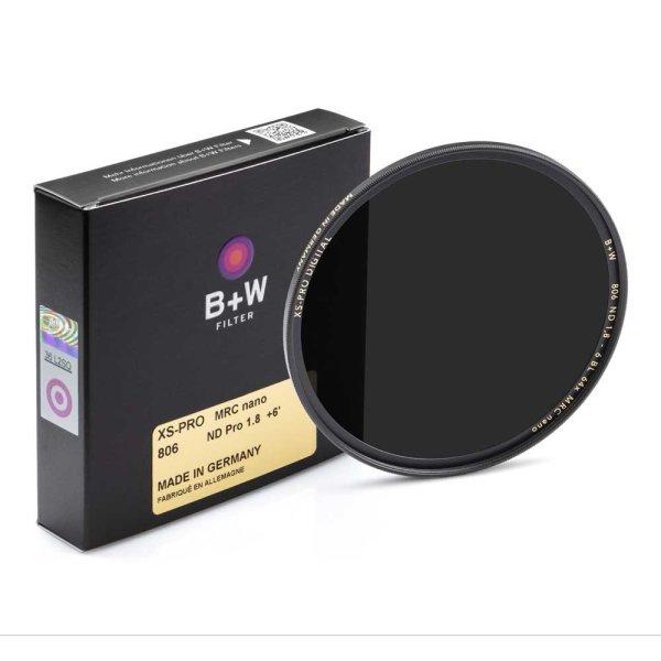 B+W Graufilter XS-PRO ND 806 MRC nano | ND 1,8 (+6 Blenden =64x)