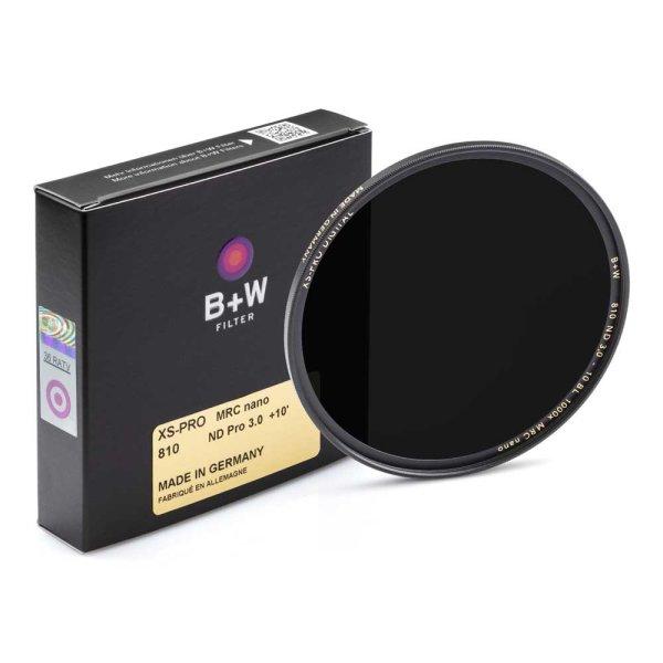 B+W Graufilter XS-PRO ND 810 MRC nano | ND 3,0 (+10 Bl. =1000x)