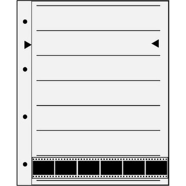 Negativ Ablageblätter Pergamin für 7 Filmstreifen- 24x36 mm / 100 Blatt