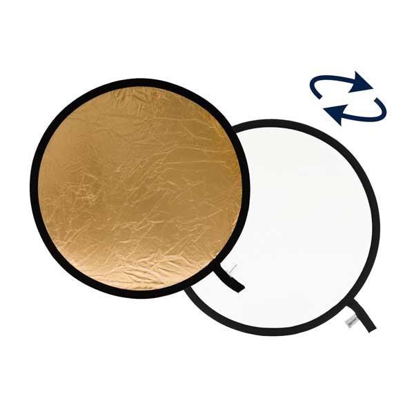 Lastolite Faltreflektor gold/weiß, rund,  Ø 120 cm