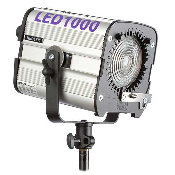Hedler Profilux® LED1000, ca. 5600° K LED Studioleuchte CRI>95 + Fresnellinse