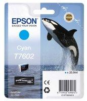 Epson Tintenpatrone T7602 25,9 ml - cyan UltraChrome HD
