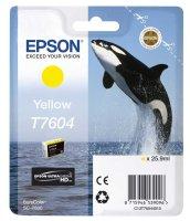 Epson Tintenpatrone T7604 25,9 ml - yellow UltraChrome HD