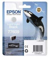Epson Tintenpatrone T7609 25,9 ml - light light black...
