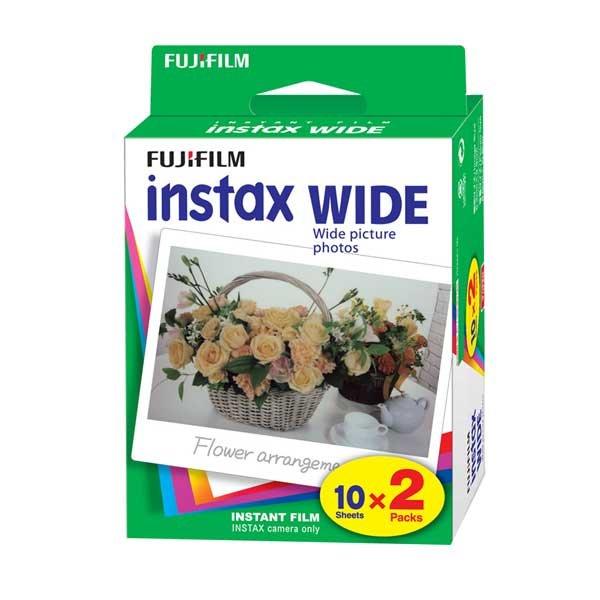 Fuji Instax WIDE Film, Doppelpack 20 Aufnahmen, Bildformat: 99x62 mm