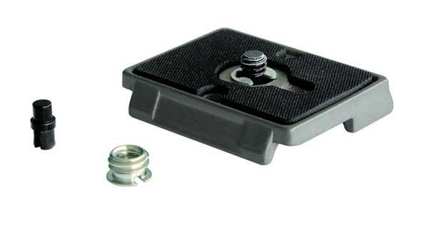 """Manfrotto Schnellwechselplatte 200PL 0,64cm (1/4"""") Schraube und 3/8"""" Adapter"""