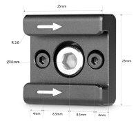 SmallRig 2060 Cold Shoe 2er Blitzschuh- Adapter-Set
