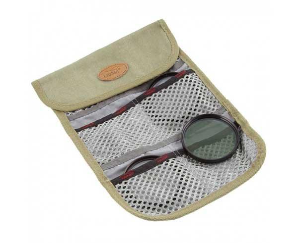 Filterset je 1x UV/zirkular-Pol/Nah +3 Ø 58 mm incl. Filter Etui Khaki