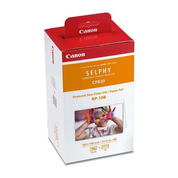 Canon RP-108 Papier + Farbband, für 108 Ausdr. CP-820,CP-910,CP1000,CP1200
