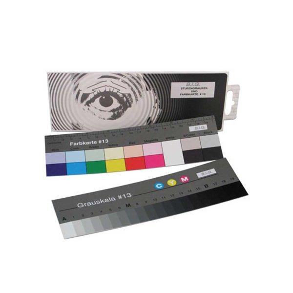 Aufsichts- Stufengraukeil und Farbkarte (#13) Länge: 18 cm