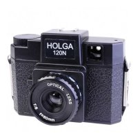 Holga 120 N Retro Kamera, Format 6x6 schwarz, Glaslinse