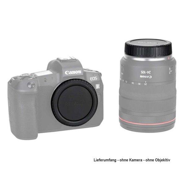 Set mit Gehäusedeckel und Objektivrückdeckel für Canon RF