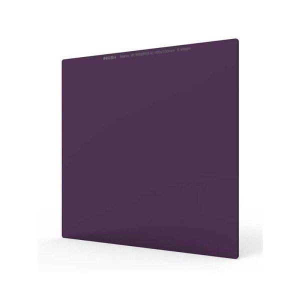 NiSi® Neutraldichtefilter, ND 2,4 Nano iR ND256 (2,4, 8 Stop) 100x100 mm