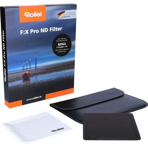 Rollei F:X Pro 100   ND Graufilter ND64 (ND 1,8   6 Blenden) 100x100 mm