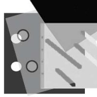 Ergänzungsblatt 36x46cm 10 BL. schwarz